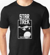 Enterprise NCC 1701 Black and White Slim Fit T-Shirt