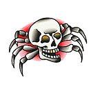Traditional Skull Spider Tattoo Design by FOREVER TRUE TATTOO