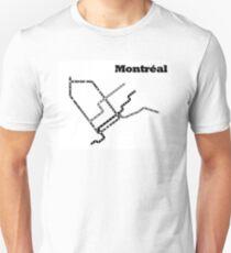 Montreal Subway Map Unisex T-Shirt