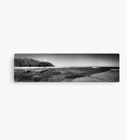 Lighthouse Beach B&W Pano Canvas Print