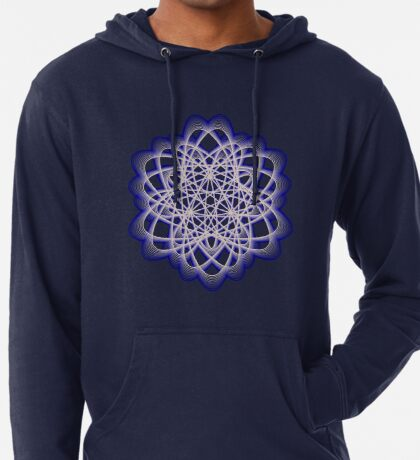Abstract Dark Blue Violet Atomic Swaps Lightweight Hoodie