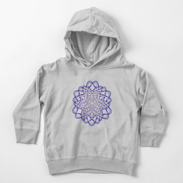 Abstract Dark Blue Violet Atomic Swaps Toddler Pullover Hoodie