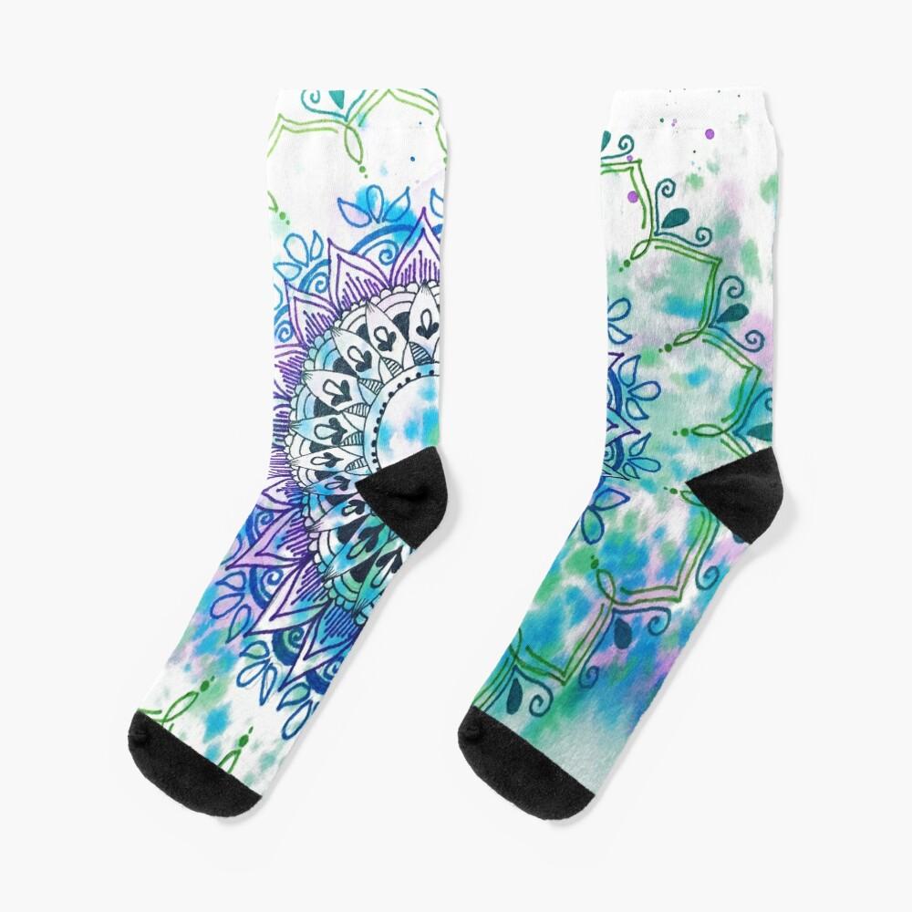 Mandala Splash Socks