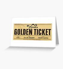 Wonka - Golden Ticket Greeting Card