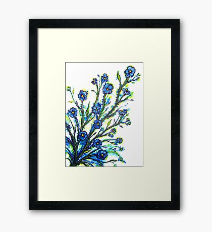 Forget-Me-Not - Flowers Framed Print