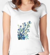 Forget-Me-Not - Flowers Women's Fitted Scoop T-Shirt