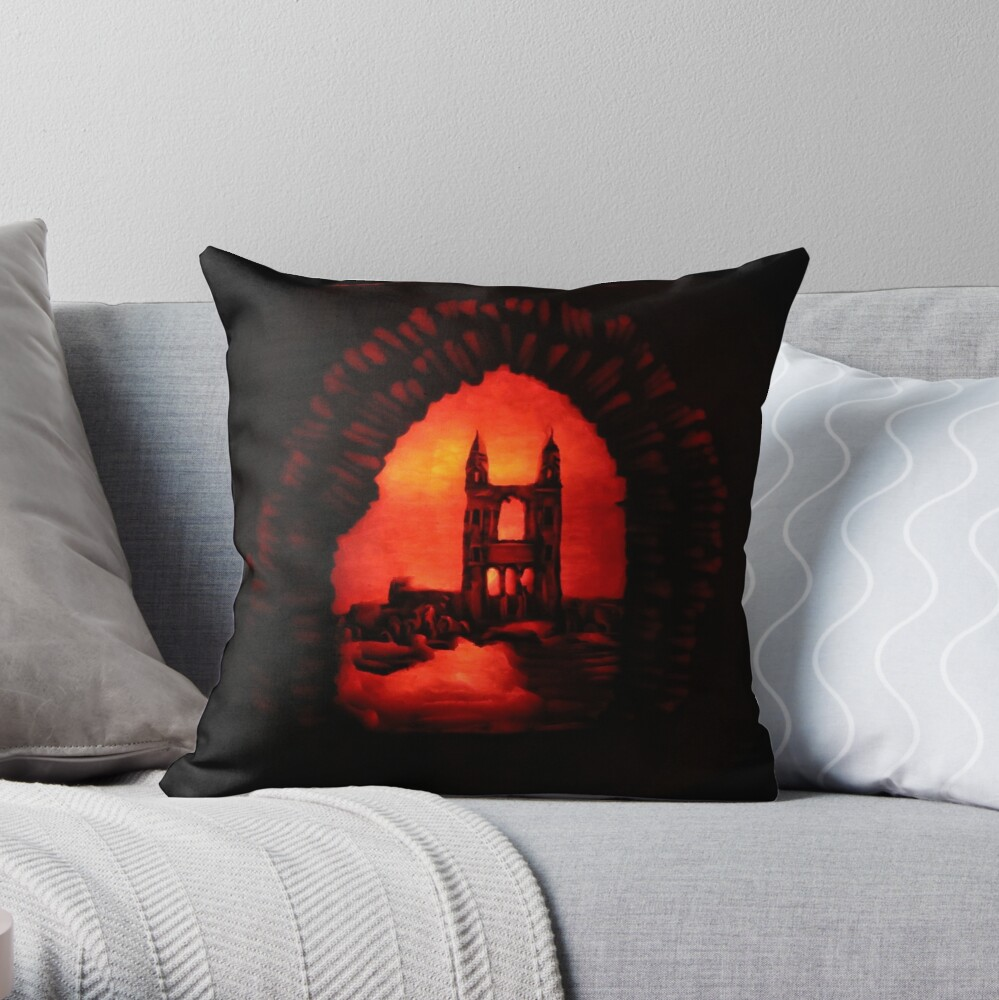 St Andrews Cathedral Pumpkin Carving Throw Pillow