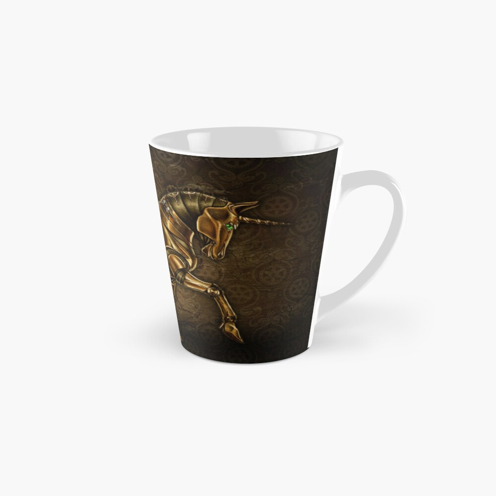 Steampunk Unicorn Damask Tall Mug