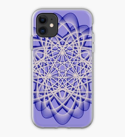 Abstract Dark Blue Violet Atomic Swaps iPhone Case