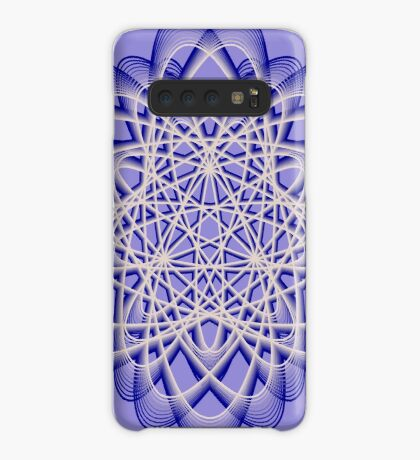 Abstract Dark Blue Violet Atomic Swaps Case/Skin for Samsung Galaxy