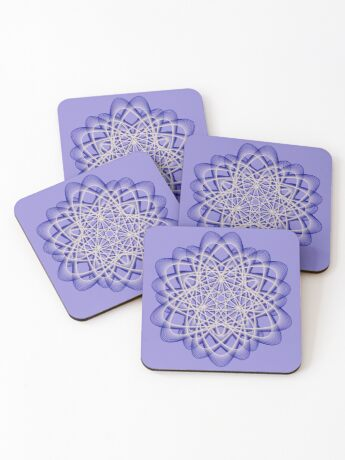 Abstract Dark Blue Violet Atomic Swaps Coasters