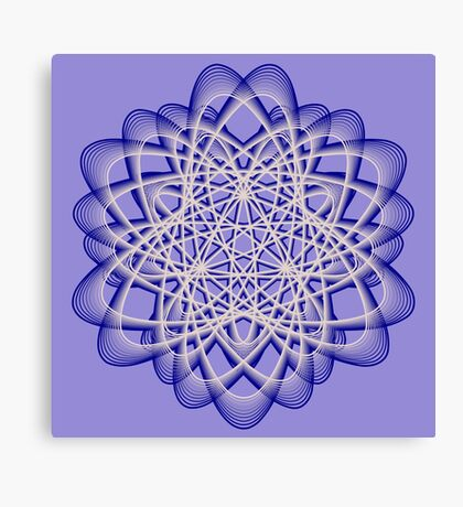 Abstract Dark Blue Violet Atomic Swaps Canvas Print