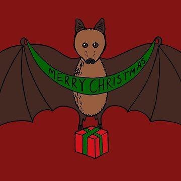 Christmas Bat by KraftyPanda