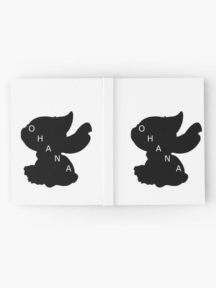 Vista alternativa de Cuaderno de tapa dura Stitch ama a Ohana
