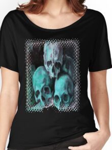 Haunted Halloween Pyramid of Skulls Women's Relaxed Fit T-Shirt