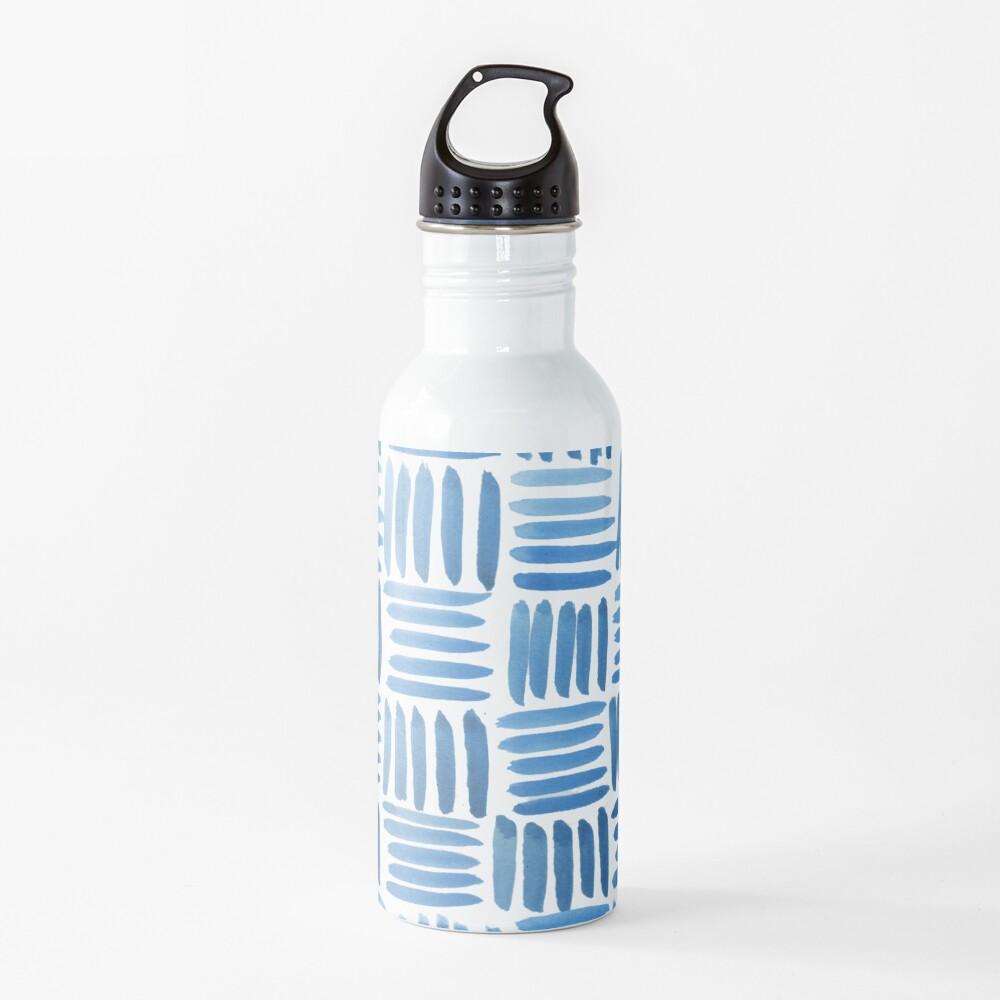 Blue Parquet Water Bottle