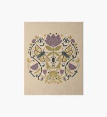 Mystical Scandinavian Folk Art Print Art Board Print