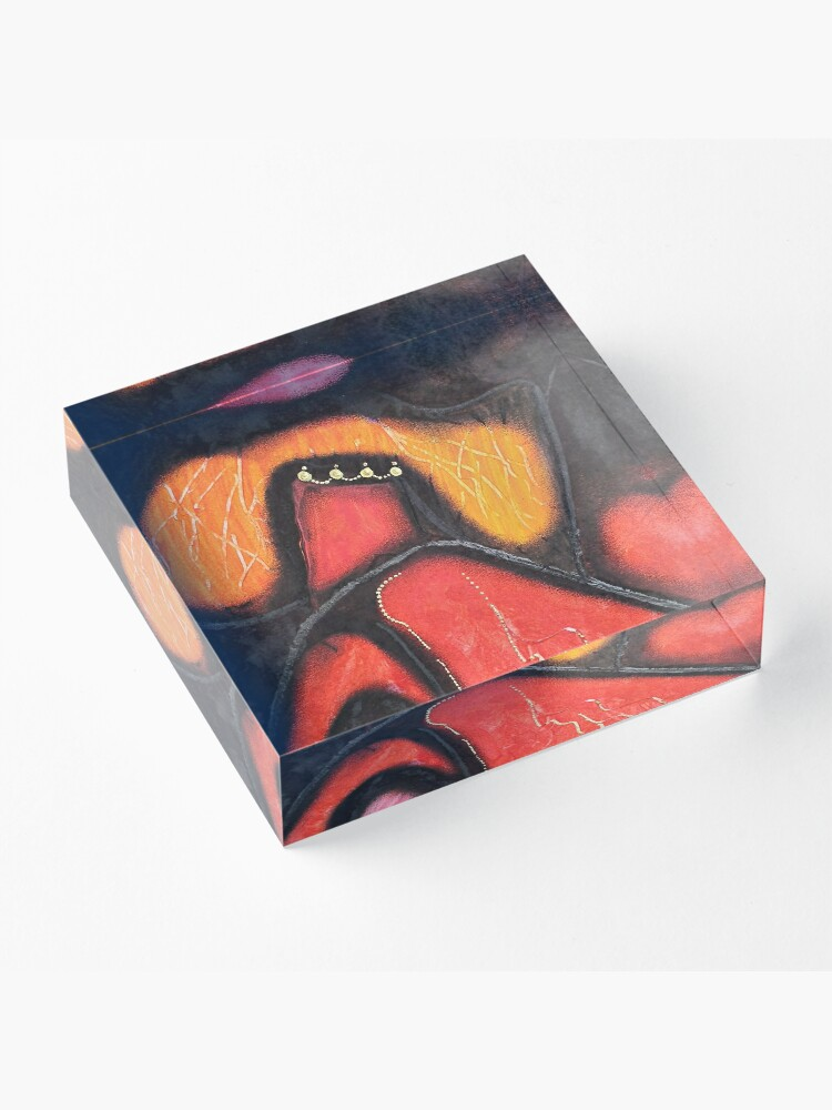 Alternate view of King Abstract Acrylic Block