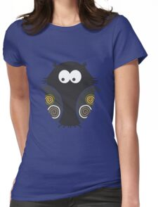 Spooky Halloween Owl Womens Fitted T-Shirt