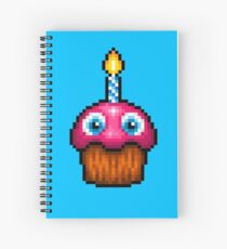 Five Nights at Freddy's 2 - Pixel art - Cupcake (no plate) Spiral Notebook