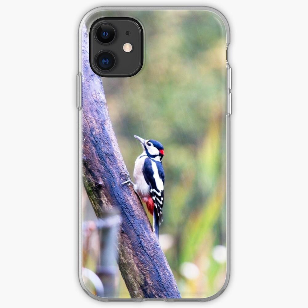 Great Spotted Woodpecker (Dendrocopos major) iPhone Case & Cover
