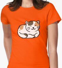 Sleepy calico kitty cat T-Shirt