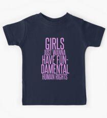 GIRLS JUST WANNA HAVE FUNDAMENTAL RIGHTS Kids Tee