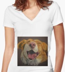 The little dog laughed Women's Fitted V-Neck T-Shirt