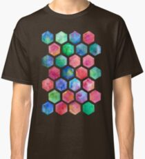 Hand Painted Watercolor Honeycomb Pattern Classic T-Shirt