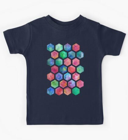 Hand Painted Watercolor Honeycomb Pattern Kids Clothes