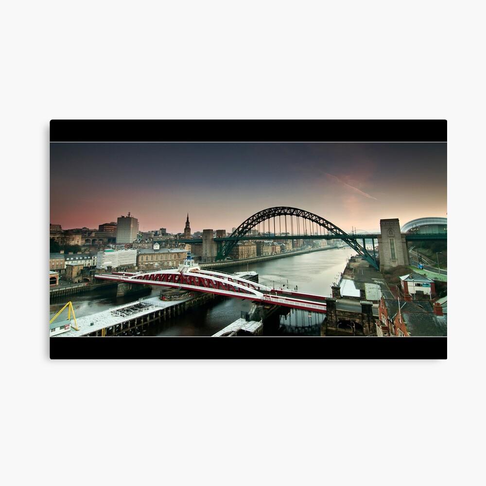 The city wakes Canvas Print