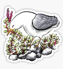 Angry Seagull Ripping up Plants Sticker