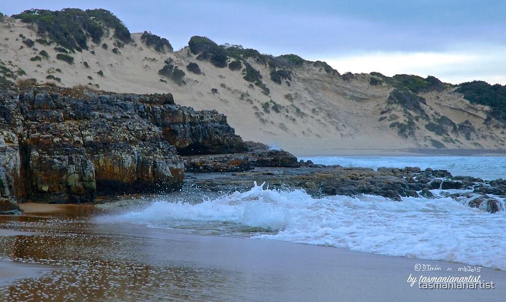 TASMAN PENINSULA ~ Crescent Beach Rocks by tasmanianartist by tasmanianartist