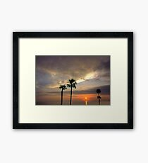 Apalachicola Bay Sunset Framed Print