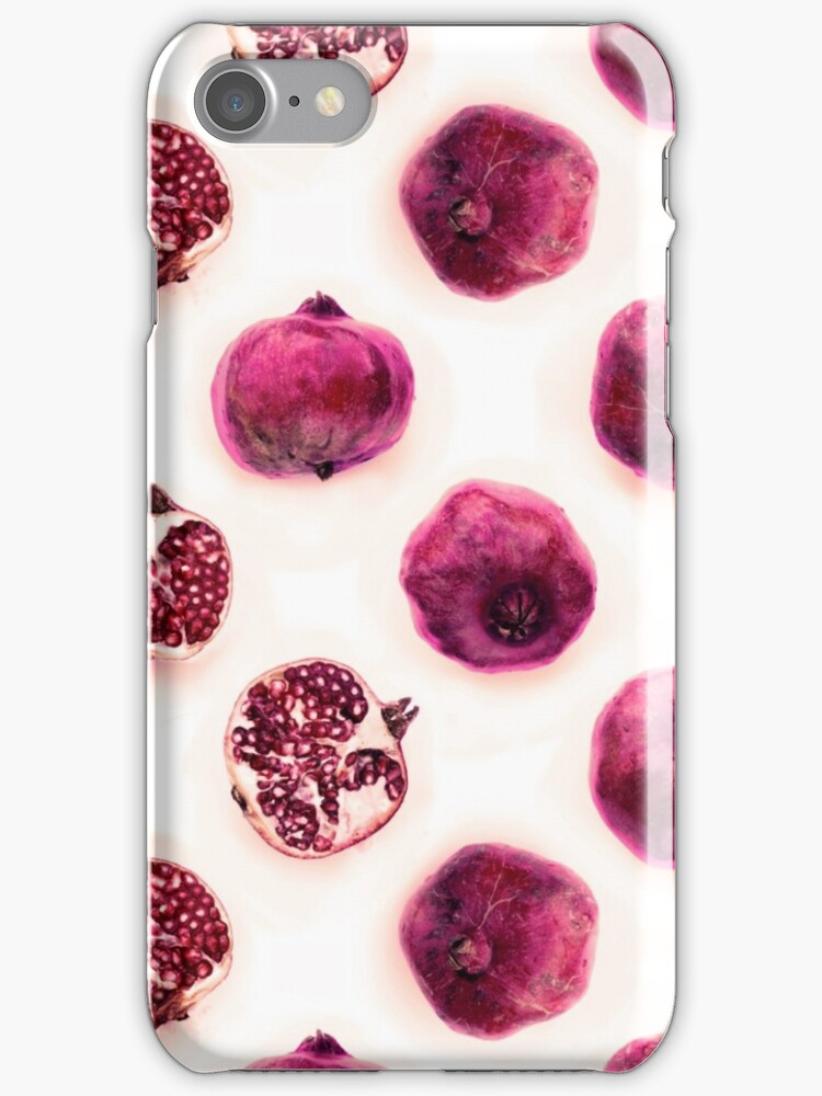 Pink Pomegranate Polka Dots by micklyn