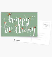Sophia Happy Birthday/ Greetings Card Postcards