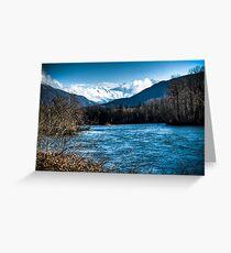 Skagit River, WA Greeting Card