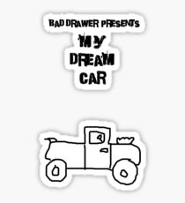 Bad Drawer Presents Dream Car Sticker