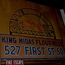 king midas flour mills sign by petalpress
