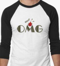 OMG What? Funny & Cute ladybug line art Men's Baseball ¾ T-Shirt