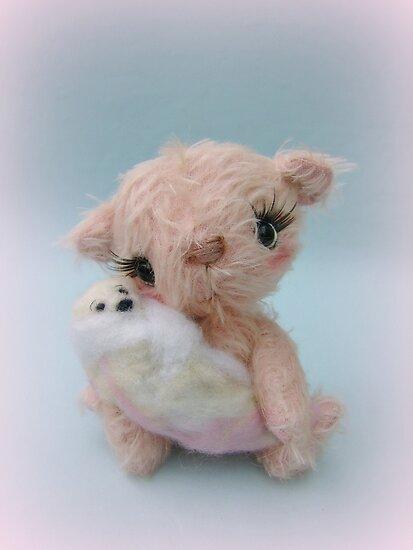 Amlika and baby - Handmade bears from Teddy Bear Orphans by Penny Bonser