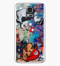Super Mario Banksy Art London Police Street Graffiti Phone Cover Case/Skin for Samsung Galaxy