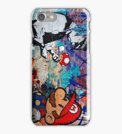 Super Mario Banksy Art London Police Street Graffiti Phone Cover iPhone Case/Skin