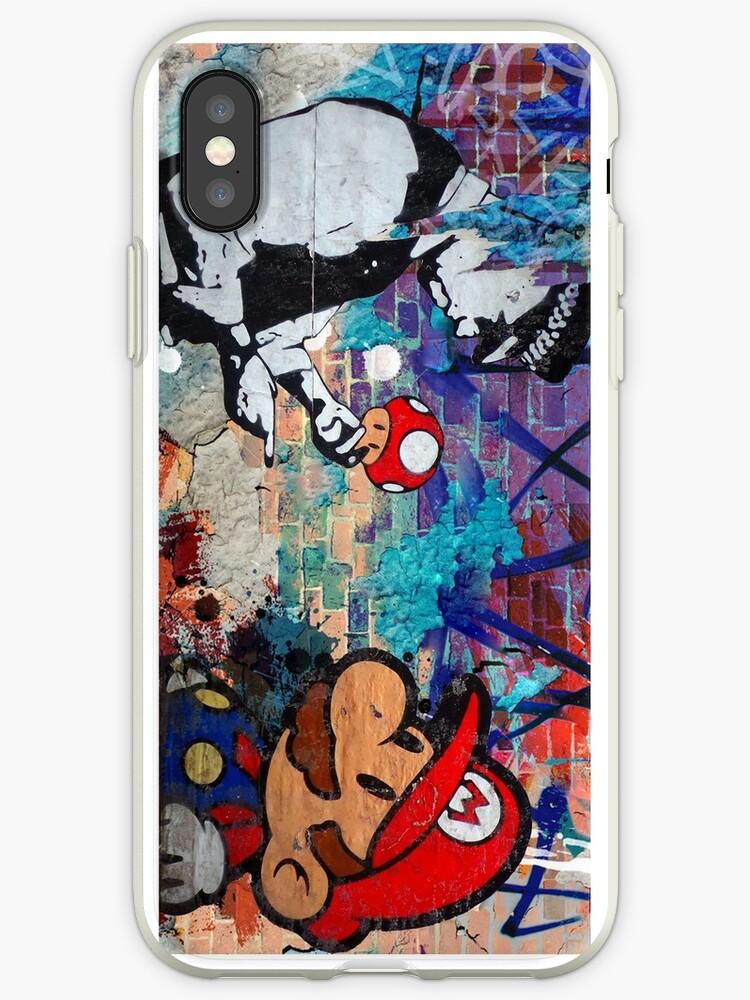 «Super Mario Banksy Art Londres Police Street Graffiti cubierta del teléfono» de baray7