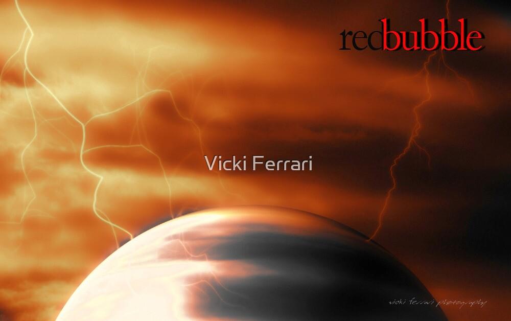 Red Bubble Storm © Vicki Ferrari Photography by Vicki Ferrari