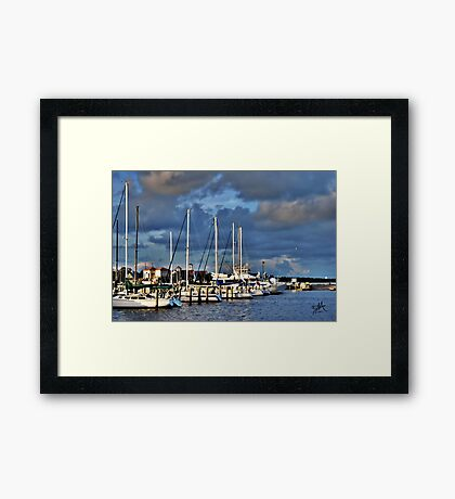 A Day at the Dock Framed Print