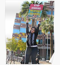 """""""Stop Sending Weapons to Israel""""  Poster"""