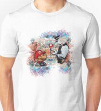 Banksy street art Graffiti London Cop Super Mario Funny Parody T-Shirt
