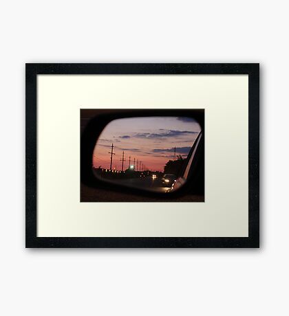 Waiting for a Train Framed Print