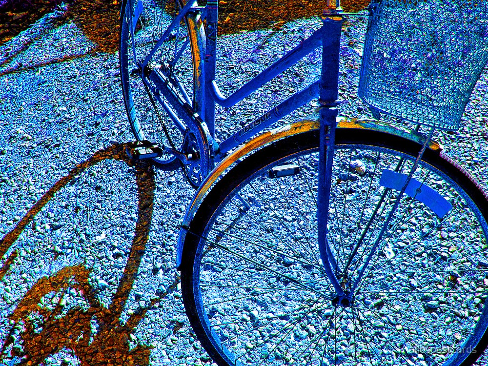 blue bike by allespostcards